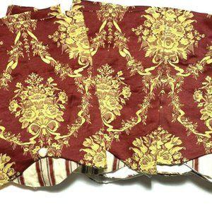 Waverly Luxury Window Curtains Valances 4 Red Gold